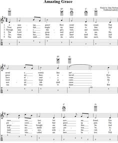 Amazing Grace Banjo Tab Page 1. View the whole song at http://chordzone.com/music/banjo/amazing-grace/