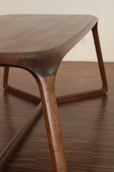 size 2300 900 750 material walnut, natural oil finish 곡선가구 Dining table. 한여름에 땀깨나 흘리며...