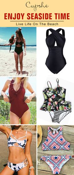 Say hello to incoming summer now! Cupshe have saved soft and chic swimsuit collection for you to have a try. It is the only best must-have for beach trips.