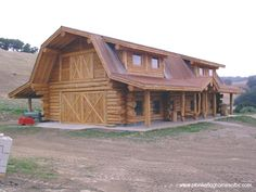 Courtesy of Pioneer Log Homes of B. Log Cabin Living, Log Cabin Homes, Barn Homes, Log Cabin Designs, Timber House, Cabins And Cottages, New House Plans, Stone Houses, Future House