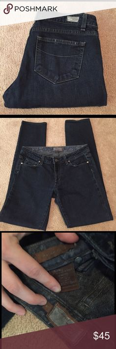 Paige Skyline Drive jeans! Super cute gently worn Paige Skyline Drive jeans! Overall wear and general fading, but a gorgeous pair of jeans with a lot of life left! Size 28. Inseam 31. Smoke free home. Paige Jeans Jeans