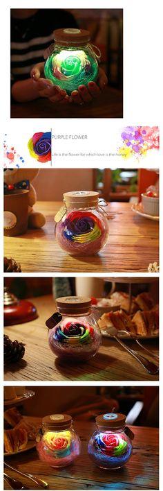 Rose Light Bottle Romantic Gift For Your Girlfriend