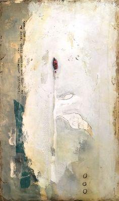 Layers of troweled plaster under encaustic medium - Stephanie Lee