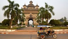 The Patuxai arch, where visitors climb five flights for a panoramic view of the city, Vientiane, Laos. By David Hagerman for NYTimes