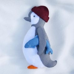 This lovely little Penguin character felt sewing kit is great fun for kids to make, he looks very cheeky wearing his fishermans hat with his lunch tucked under his wing... £12.95
