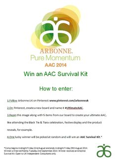 Going to #AAC2014? Show us your ultimate AAC and be in with the chance to WIN an AAC Survival Kit. For terms and conditions, please visit The Source.