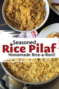 Seasoned Rice Pilaf (like Rice-a-Roni but better & cheaper!) - - Boxed rice mixes are a thing of the past, especially when you know how to make a healthier, cheaper, and tastier seasoned rice pilaf yourself. Try this homemade rice-a-roni recipe today. Seasoned Brown Rice Recipe, Seasoned Rice Recipes, Brown Rice Recipes, Texas Roadhouse, Mango Salsa, Rice Side Dishes, Food Dishes, Halloumi, Homemade Rice A Roni