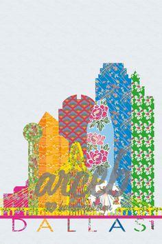 Dallas   JPG Digital download  Illustration graphic by arceb