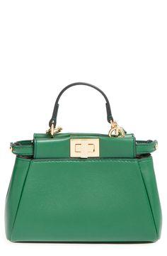 Fendi 'Micro Peekaboo' Nappa Leather Bag (Extra Small)