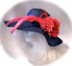 fd2de2c4e8d Kentucky Derby Hat Black   White Sun Hats Women s Hats DH-116