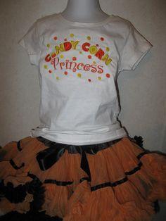 Halloween Candy Corn Princess Shirt Onesie any by rowanmayfairs, $24.00