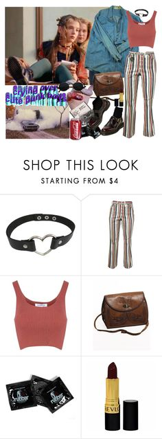 """""""Untitled #2758"""" by valley-of-the-teenage-dolls ❤ liked on Polyvore featuring Glamorous, INDIE HAIR and Revlon"""