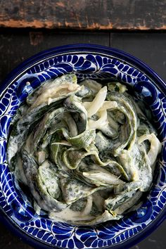 Rajas con Crema (Roasted Poblanos in Cream Sauce) | Simply Recipes