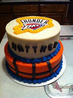 OKC Thunder Basketball Cake Birthday Party Parties Kid