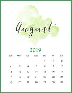 This Free Printable 2018 Watercolor Wash Calendar is a perfect calendar for those that like things simple and pretty. Comes in 2 sizes & Enjoy! Kalender August, August Calendar, Diy Calendar, Printable Calendar Template, Calendar Design, Free Printables, Workout Calendar, August Wallpaper, Calendar Wallpaper