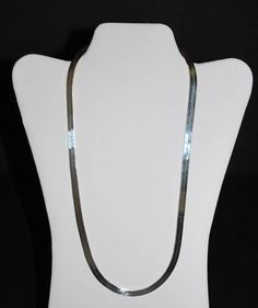 """Stunning Sterling Silver 925 HERRINGBONE 6.35mm #Chain #Necklace ITALY 24"""" 29 Gram #Chain"""