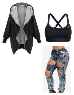 """""""Boxing outfit"""" by lw203900 ❤ liked on Polyvore featuring Under Armour, women's clothing, women, female, woman, misses and juniors"""