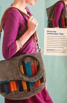 Sew Sweetness: Purse Palooza :: Pattern Review : Drop Top Messenger Bag