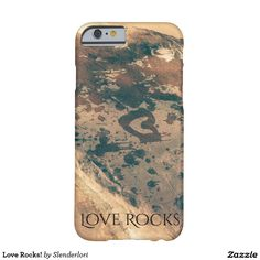 Love Rocks! A heart and splashes painted with water on a rock...cool smartphone case.