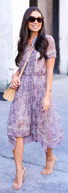 Purple Zimmermann Fall Midi Dress by With Love From Kat