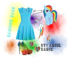"""My Little Pony: Rainbow Dash - Grand Galloping Gala"" by ariel-karin on Polyvore"