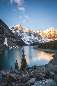 Taken during an early sunrise around 6 am. This was the only day that we had good weather during our stay at Lake Louise. Landscape Photography, Nature Photography, Travel Photography, Beautiful Places, Beautiful Pictures, Beautiful World, Photos Voyages, Adventure Is Out There, Nature Pictures