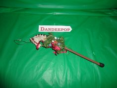"""Vintage Horse on a Stick Christmas Tree Ornament 12"""" find me at www.dandeepop.com"""