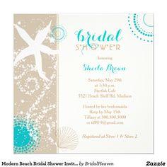 Beach bridal shower invitation seashells bridal shower invitation dont think im having a wedding shower but if i did lol modern beach bridal shower invitations filmwisefo