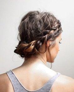 A chic take on the milkmaid braid.