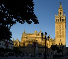 Giralda tower and Cathedral in Seville, Andalucia.