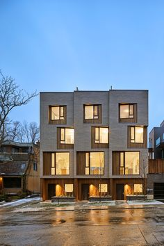 Image 4 of 15 from gallery of CORE Modern Homes / Batay-Csorba Architects. Photograph by Doublespace Photography Modern Architecture Design, Modern Architecture House, Facade Design, Facade Architecture, Modern House Design, Townhouse Exterior, Modern Townhouse, Townhouse Designs, Casa Patio