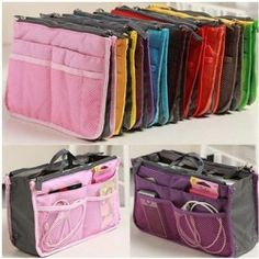 Hot ladies: Women Nurse Insert Handbag Pouch Purse Travel Organizer Insert Bag