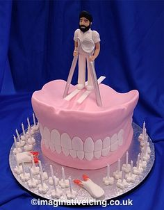 Dentist False Teeth Birthday Cake