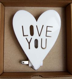 LOVE YOU night light in WHITE by HouseyHome on Etsy