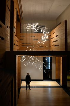 Flylight attempts to mimic the phenomenon of large flocks of swooping birds