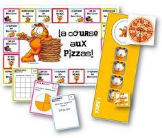 La course aux pizzas - jeux sur les fractions (classe de CM , cycle 3) inspiration jeu coopératif du verger Pizza Fractions, Teaching Fractions, Teaching Math, Math 5, Math Tutor, 5th Grade Math, Adding And Subtracting Fractions, Multiplying Fractions, Comparing Fractions