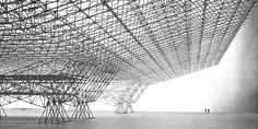 USAF Aircraft Hangar, Konrad Wachsmann –––––– Konrad Wachsmann U. Air Force Aircraft Hangar Military Infrastructure Year : 1951 Location : U. Hans Poelzig, Illinois Institute Of Technology, Build A Fort, Chief Architect, Timber Buildings, Space Frame, Walter Gropius, University Of Southern California, Steel Structure