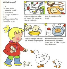 Verloren brood - Lilly is Love Sequencing Activities, Craft Activities For Kids, Preschool Food, Little Chef, Hip Workout, Cooking With Kids, Easy Workouts, I Love Food, Baby Food Recipes