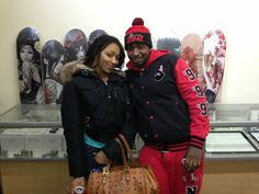 """Ceaser and Dutchess of VH1's """"Black Ink"""" stop by our showroom in NYC."""
