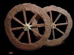 The oldest wheel known, was discovered in Mesopotamia