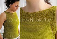 Ажурная маечка Etherial tank от Jamie A Besel | Вязание для женщин | Вязание спицами и крючком. Схемы вязания.