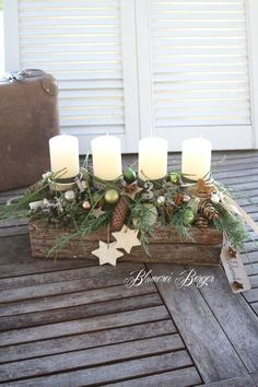 Conception de l'Avent Forest Air Adventsgesteck Waldluft Cone Christmas Trees, Christmas Candles, Rustic Christmas, Christmas Wreaths, Christmas Crafts, Christmas Decorations, Christmas Ornaments, Holiday Decor, All Things Christmas