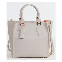 Moda Luxe Structured Purse ($50) ❤ liked on Polyvore featuring bags, handbags, grey, moda luxe handbags, grey bag, hand bags, handbags bags and moda luxe