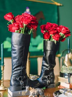 Kick Off Your Boots >> http://www.diynetwork.com/how-to/make-and-decorate/entertaining/diy-weddings-projects-and-ideas-for-centerpieces-pictures/?soc=pinterest