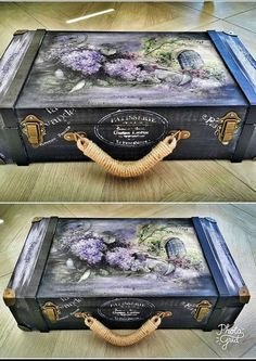 чемодан Retro Products western retro products ltd Decoupage Suitcase, Painted Suitcase, Suitcase Decor, Decoupage Box, Decoupage Vintage, Shabby Chic Furniture, Painted Furniture, Diy Furniture, Vintage Suitcases