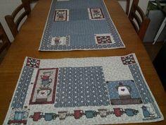 Caminho de mesa e cobertura para fogão