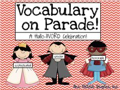 Hallo-Word-Vocabulary on Parade! Instead of a Halloween costume party do a Vocabulary Word Parade