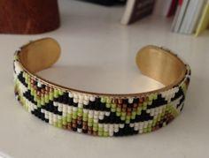 Miyuki Bracelet by La brooklynoise.  Handmade bracelet with miyuki beads.