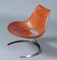 Carlo Bartoli atomic age swivel armchair