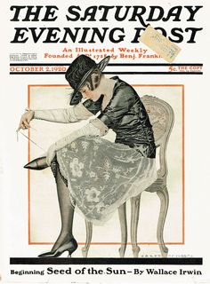Coles Phillips' cover for The Saturday Evening Post, Oct 2 1920